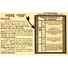 Ballot Election 1914