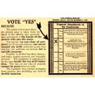 Ballot Election 1914