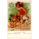 Advert Oil Cart Rose Dog Italian