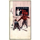 Advert Tire Fisk Baseball Player Rockwell