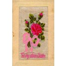 Woven Silk Rose French