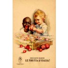 Black Advert Fruits Poster Italian