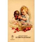 Black Advert Fruits Poster Italian