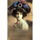 Lady Hat Camomile RP Hand-Tinted Novelty