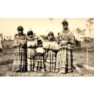 Seminole Indian Girls Real Photo FL
