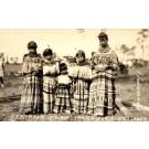 Seminole Indian Girls Real Photo FL