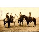 Cow Ladies Horses Real Photo KS