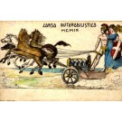 Horse-Drawn Auto Hand-Painted Italian