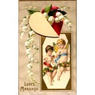 Cupids Rose Lily of Valley Novelty