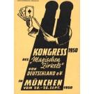 Playing Cards Advert Magicians Congress 1950