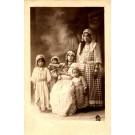 Sephardic Jewish Women Children Real Photo
