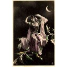 Fairy Moon Hand-Tinted Real Photo French