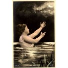 Mermaid Hand-Tinted Real Photo French