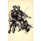 Szyk Wounded Soldier WWII