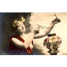 French Risque Nude Chinese Lamp RP