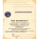 Roosevelt Presidential Campaign Membership