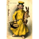 Yellow Kid Rabbit Umbrella Easter