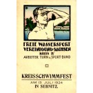 Swimming Festival 1924 German