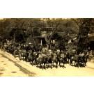 Horse-Drawn Cart Military Parade Real Photo