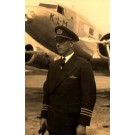 KLM Airlines Pilot Real Photo