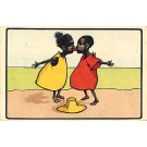 Black Children Kissing Comic