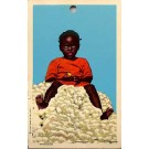 Novelty Black Girl Real Cotton Ball