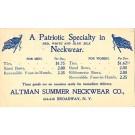 Advert Neckwear NYC Pioneer