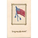 American Flag Embroidered Silk