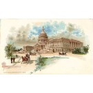 Capitol Washington D.C. Horse-Drawn Wagon Pioneer