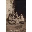 Women at Mill Palestine Real Photo
