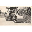 Steam Engine Road Roller Real Photo
