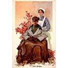 Red Cross Nurse Officer in Chair WWI