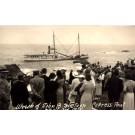 Shipwreck Spectators Real Photo