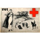 Red Cross Nurse Officer on Horse WWI