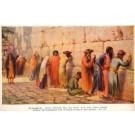 Jews by Wailing Wall at Jerusalem Israel