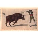 Matador Bull Stab with Banderillas
