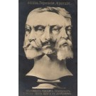 England German French Faces as Bust