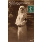 Young Nurse with Crossed Hands Tent WWI RP