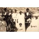Blacks Newlyweds Real Photo