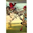 Samurai on Horses with Arrows Woodblock