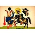 Persian Sid Ali Pasha on Horse Killing Enemy