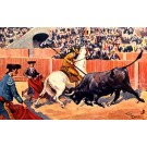 Bullfighting Attacking Bull Toreadors Horse Tuck