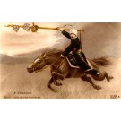 Cossack on Horse Tinted Real Photo