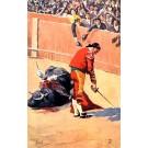 Toreador Defeated Bull Fans Tuck