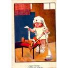 Child Nurse Bandaging Teddy Bear