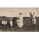 German Crown Prince Family Horse Ponies Real Photo