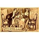Mason Symbol Lovers with Wine Glasses