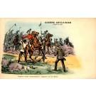 Boers Capturint British Officer on Horse
