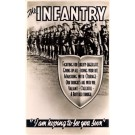 WWII Marching Infantry Poem Real Photo