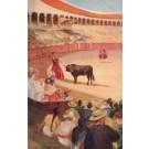Toreador Aiming at Wounded Bull Bullfighting
